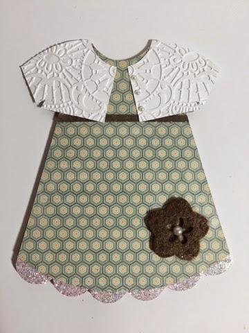 Dress shaped card 2 - Keri Parish