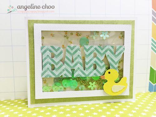Baby everyday word window card - Angeline Choo