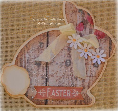 Easter bunny shaped card 2 - Leslie Foley