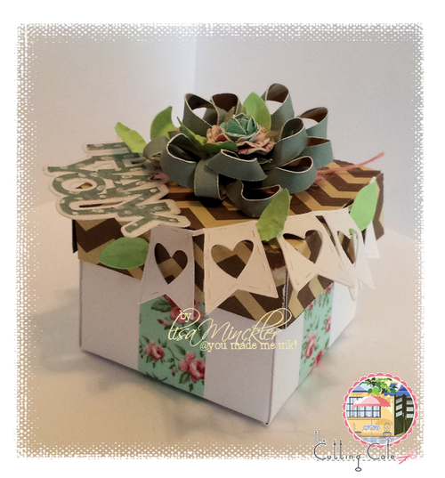 Tiny box with sentiments - lisa minckler