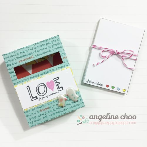 Mini note pad and card set - Angeline Choo