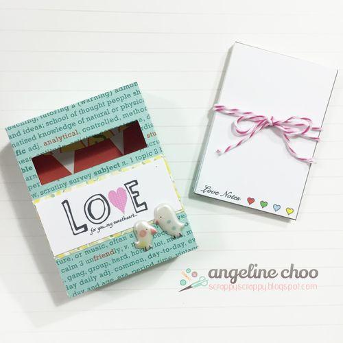 Mini note pad and card set - Angeline Choo