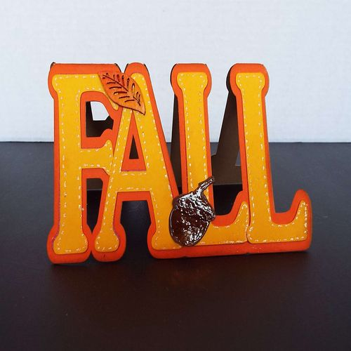 Fall word shaped card - Deanna Mulder