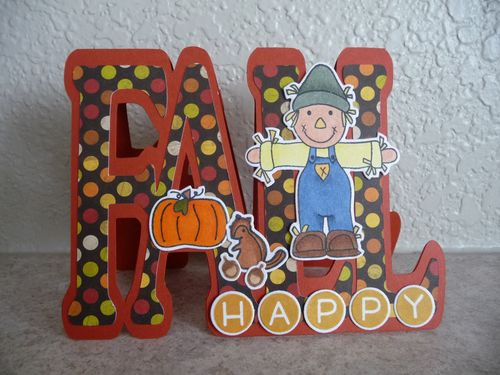 Fall word shaped card - Jeri Thomas