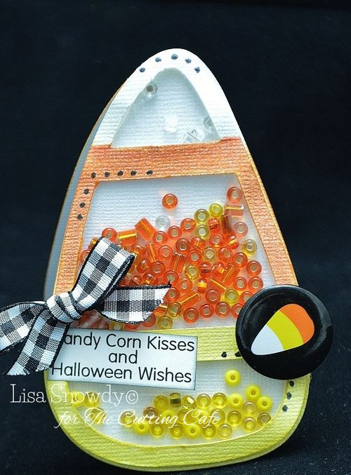 Candy corn shaker - Lisa Snowdy