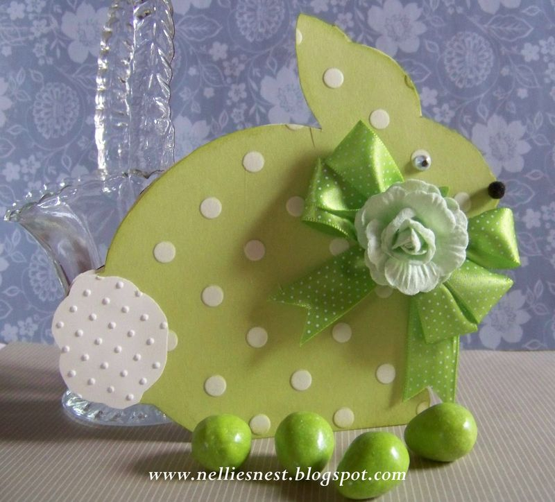 Easter bunny shaped card 2 - diane hover