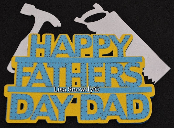 Happy fathers day word shaped card - lisa snowdy