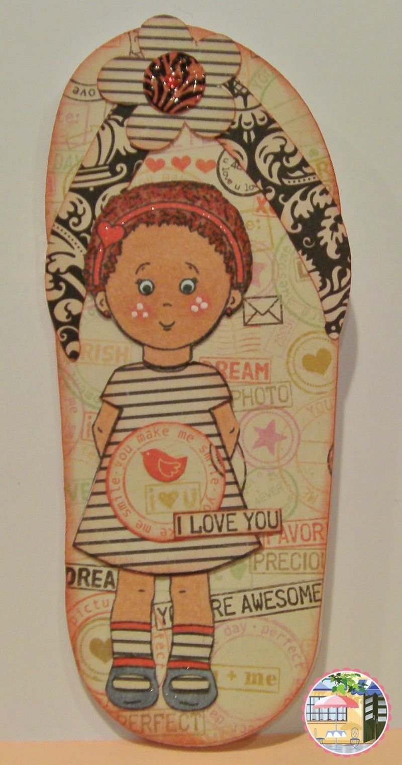 RHONDA ZMIKLY - FLIP FLOP SHAPED CARD