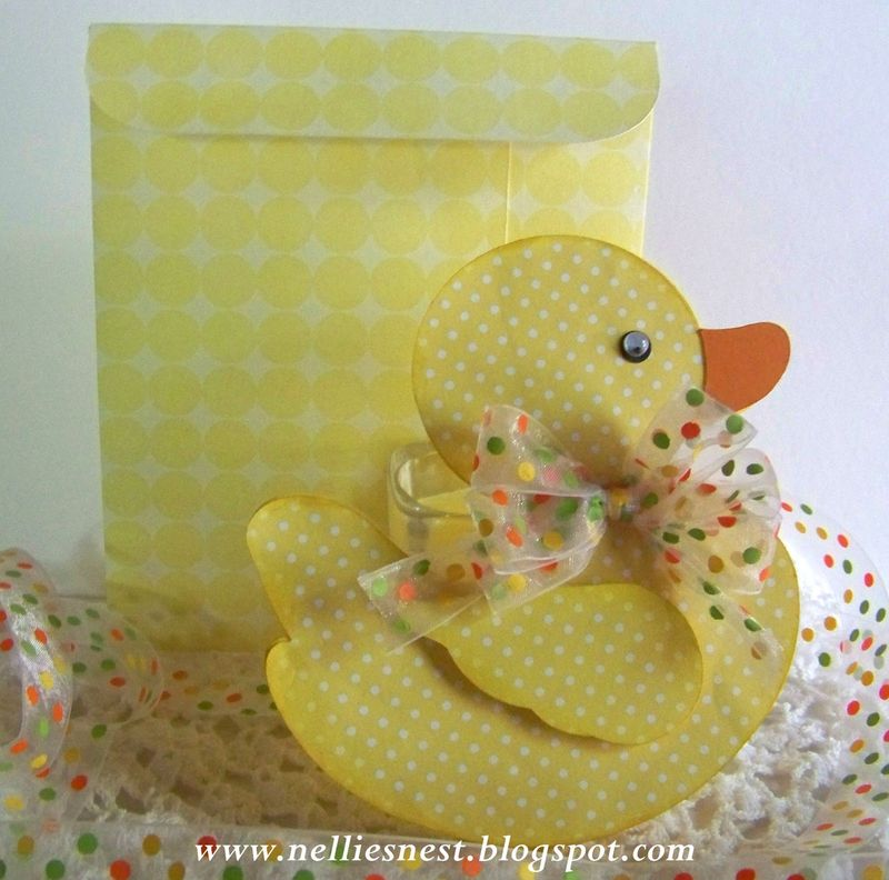 Duck shaped card - diane hover