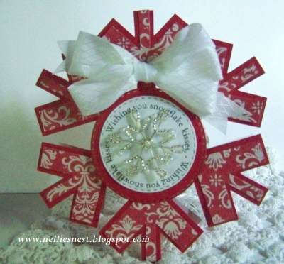 Snowflake shaped card - Diane Hover