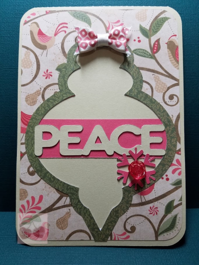Christmas bulb greetings - marji franklin