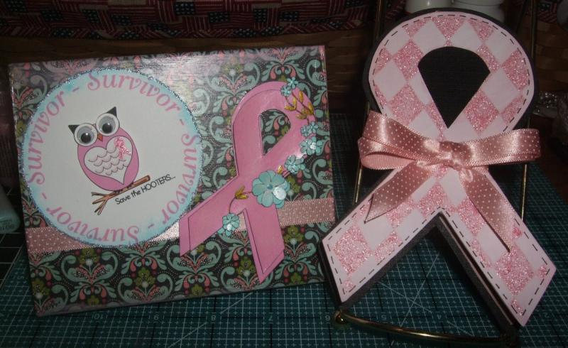 Jeri Moody - Think Pink and Ribbon Shaped card