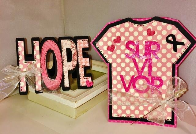 Hope word shaped card and breast cancer t shirt - robyn weatherspoon