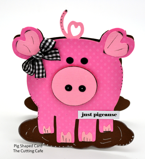 Pig shaped card