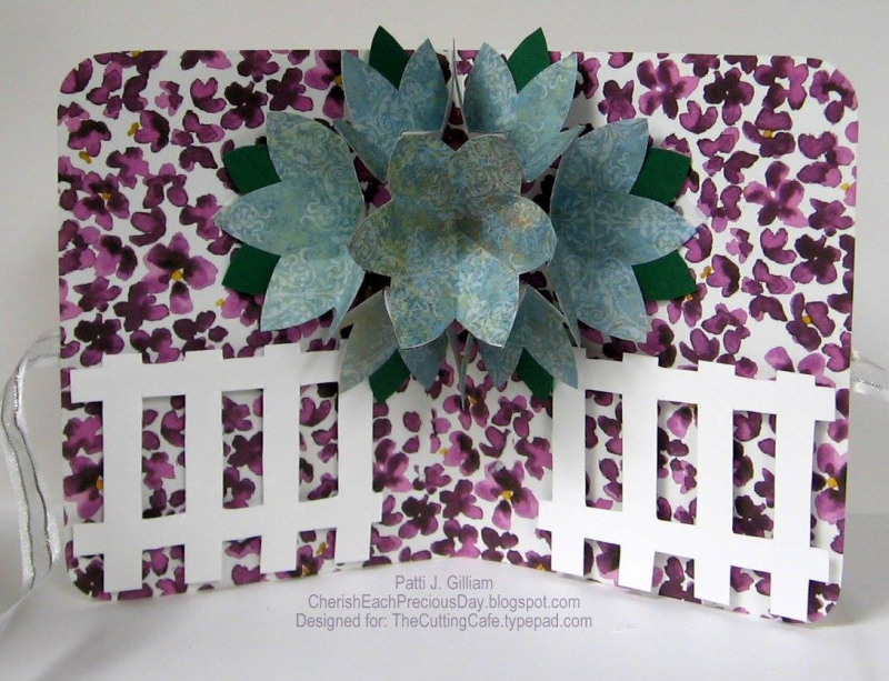 Patti gillman - flower pop up card 1