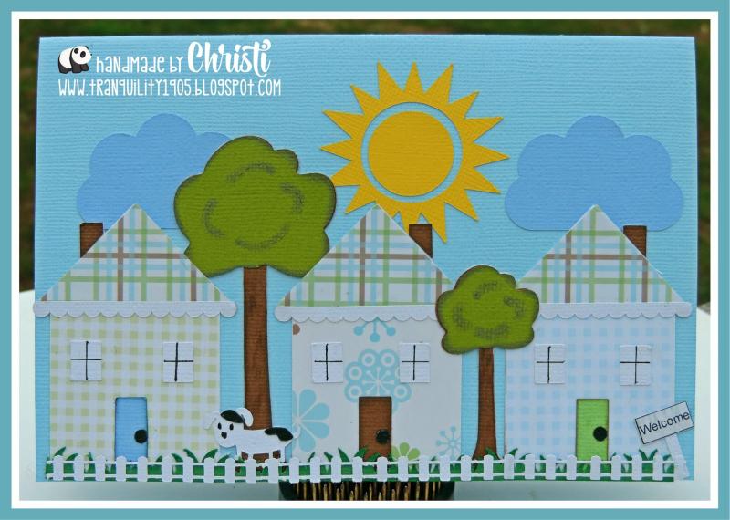Christi - welcome to the neighborhood scene card