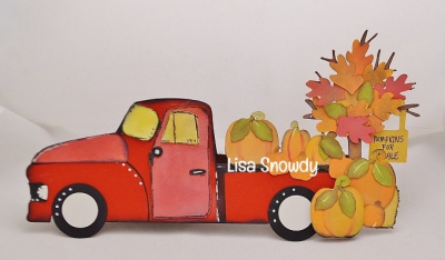 LISA S - happy fall scene card