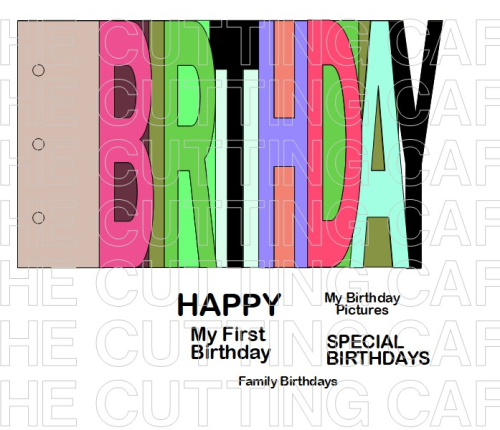 BIRTHDAY WORD BOOK