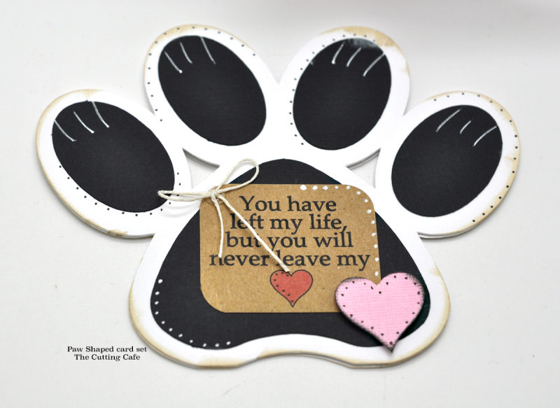 Paw shaped card