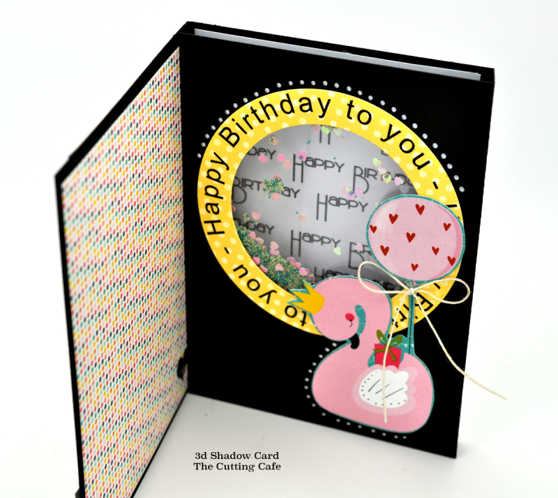 3d shadow card birthday