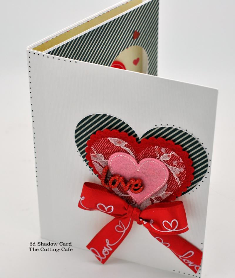 3d shadow card heart