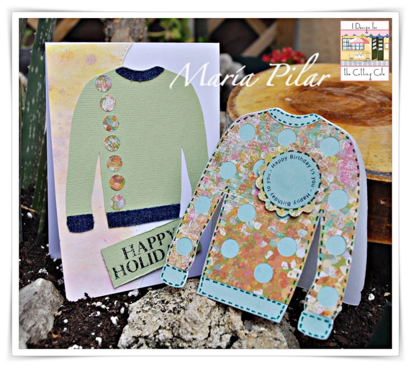 Ugly sweater shaped card - maria pilar