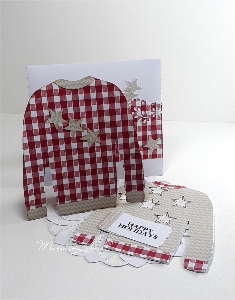 Ugly sweater shaped card - maria luisa