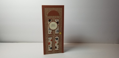 Audrey Long - front door shaped card