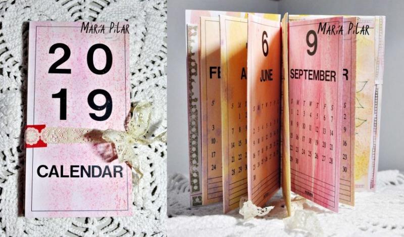 MARIA PILAR - 2019 FOLDED CALENDAR