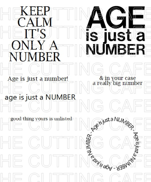 AGE IS JUST A NUMBER BLOG