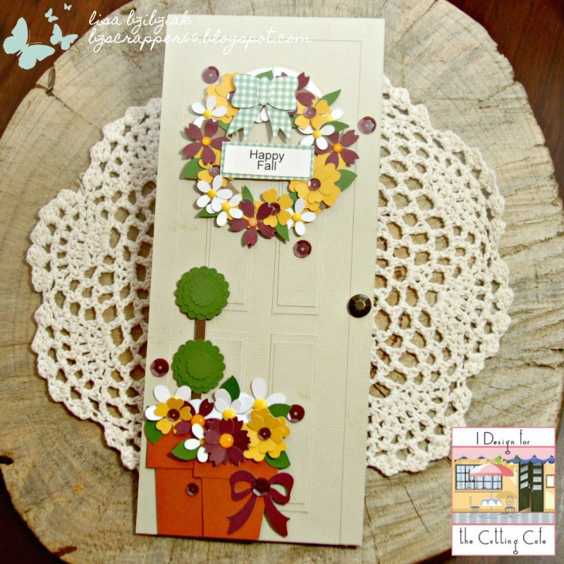 Lisa Bzibziak - front door shaped card