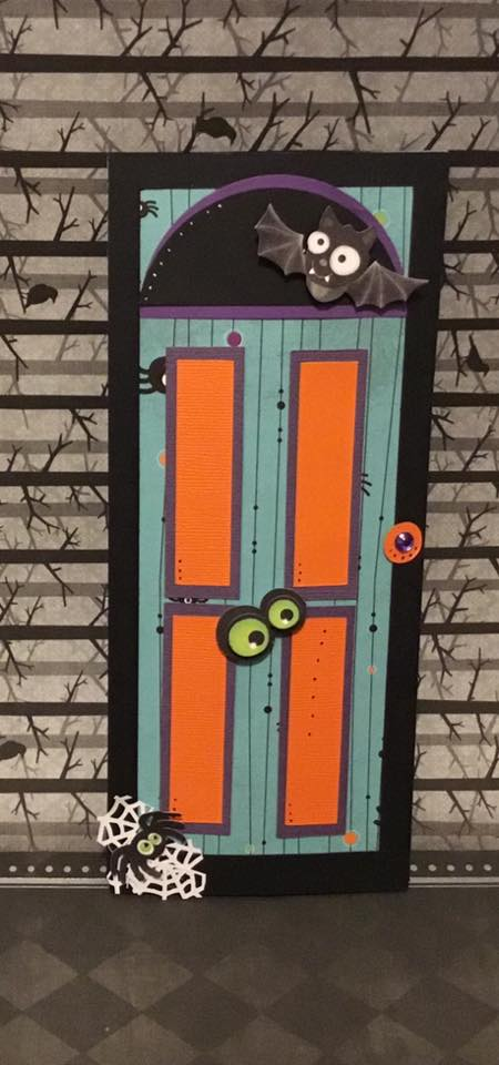 Krista Norman - front door shaped card