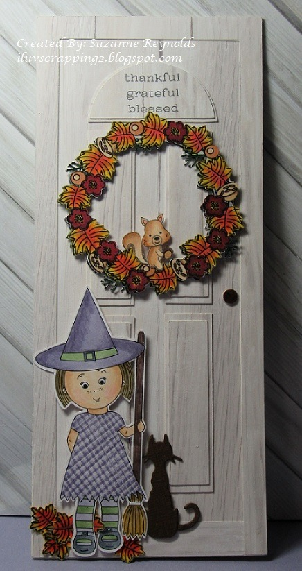 Suzanne Reynolds - front door shaped card