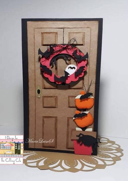 Maria Luisa - front door shaped card