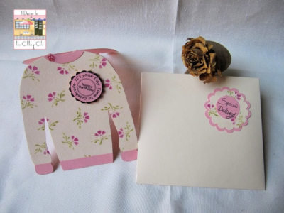 Ugly sweater shaped card - milagros