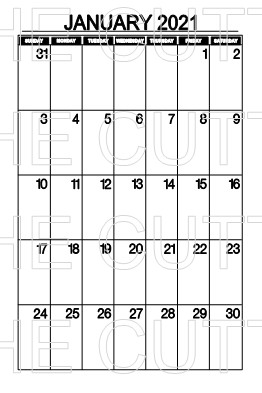 MONTHLY CALENDARS JAN