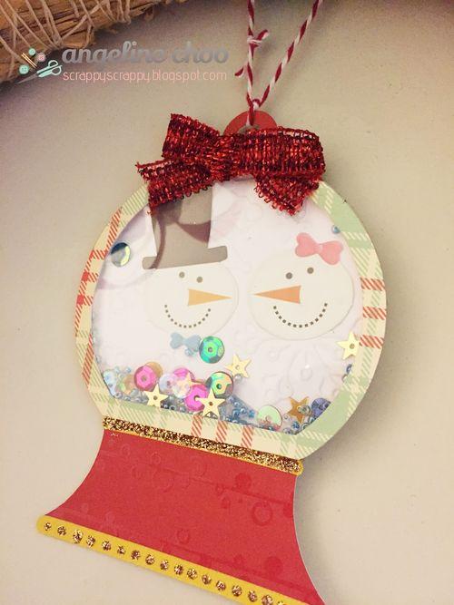 Christmas shape shaker card set - Angeline Choo