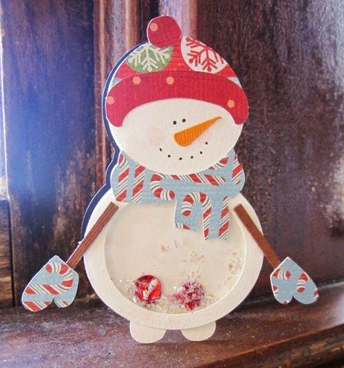Christmas shape shaker card set - Debbie Fisher