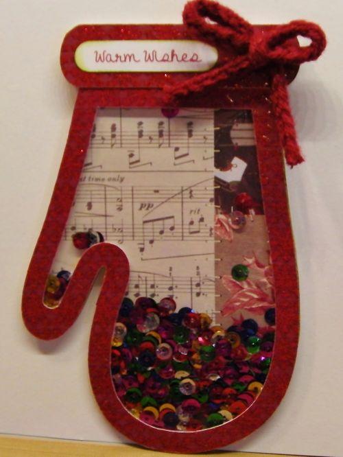 Christmas shape shaker card set - Rhonda Zmikly
