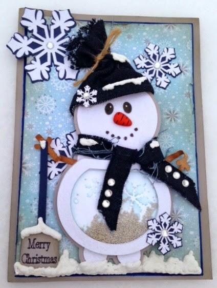 Christmas shape shaker card set - Tina Goodwin card 2