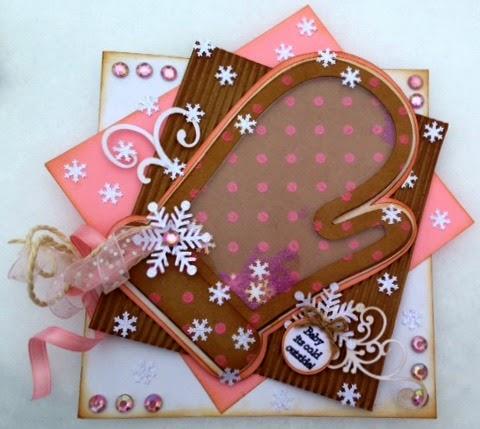 Christmas shape shaker card set - Tina Goodwin card 3