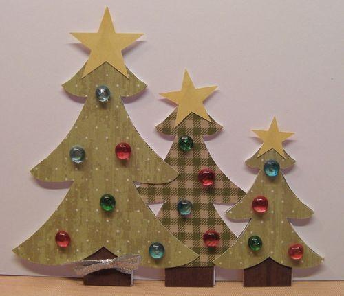 Christmas trio shaped card - Rhonda Zmikly