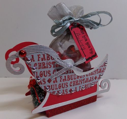 Sleigh treat box - Audrey Long