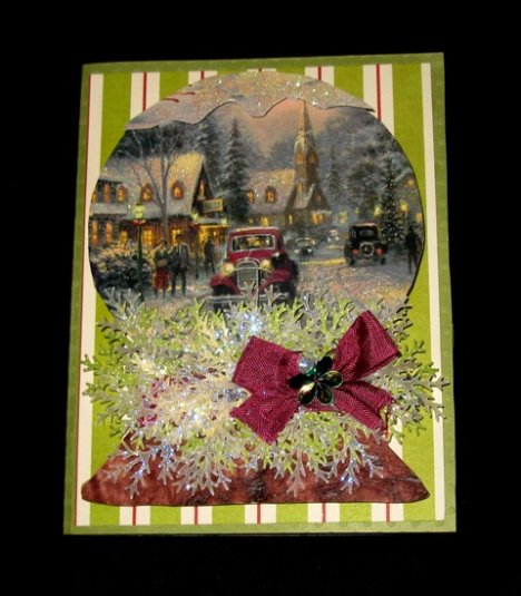 Snowglobe shaped card - Cathryn Holzschuher