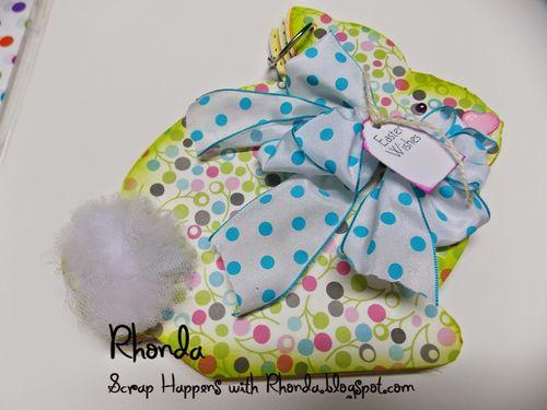 Easter wishes - easter bunny shaped card 2 - rhonda Emery