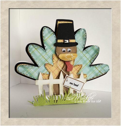 Eat beef - Lisa Minckler - Turkey shaped card