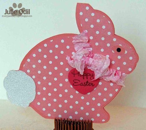 Happy Easter - Julie Odil - Easter bunny shaped card 2