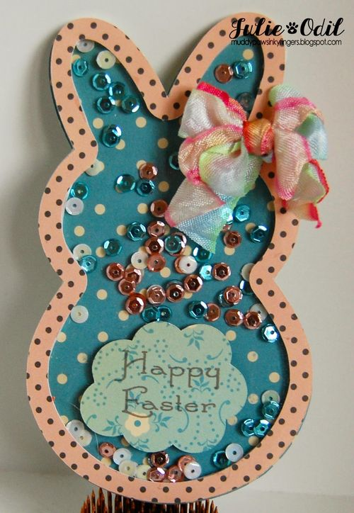 Happy easter - Julie Odil - Easter overlays and shaker card set