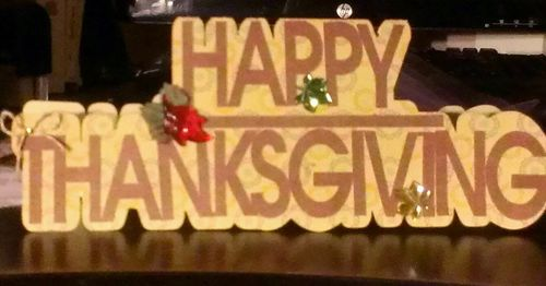 HAPPY THANKSGIVING WORD SHAPED CARD - Chauntelle Lee
