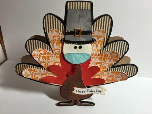 Happy turkey day -Keri Parish - turkey shaped card